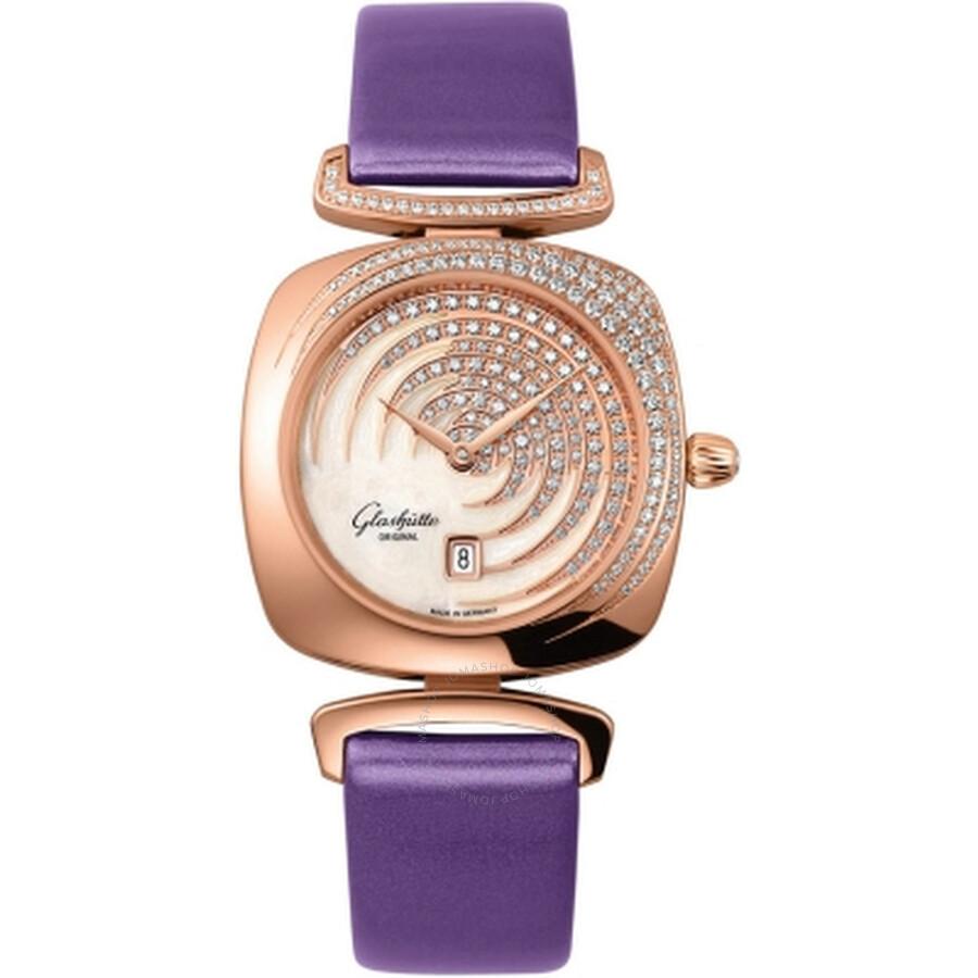 Glashutte Pavonina Enamel Dial Ladies Watch 03-01-03-15-01