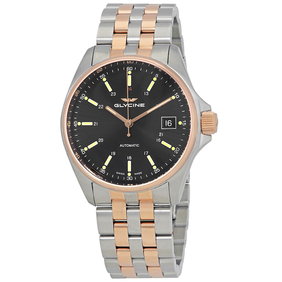 Glycine Combat 6 Classic Automatic Black Dial Mens Watch GL0107