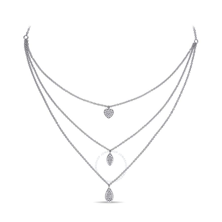 Grace JB 5/8 CT Diamond TW Necklace With Chain 14k White Gold GH SI Length (inches): 57