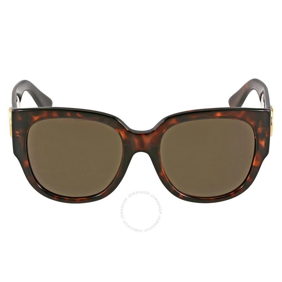 gucci female gucci asia fit square havana ladies sunglasses gg 3836 lsd ej