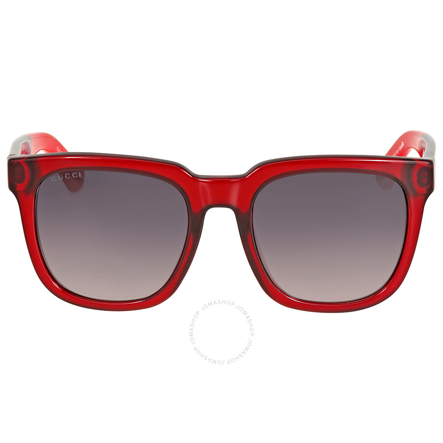 gucci gucci asian fit blue and red sunglasses
