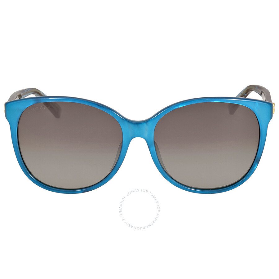gucci gucci asian fit crystal turquoise sunglasses