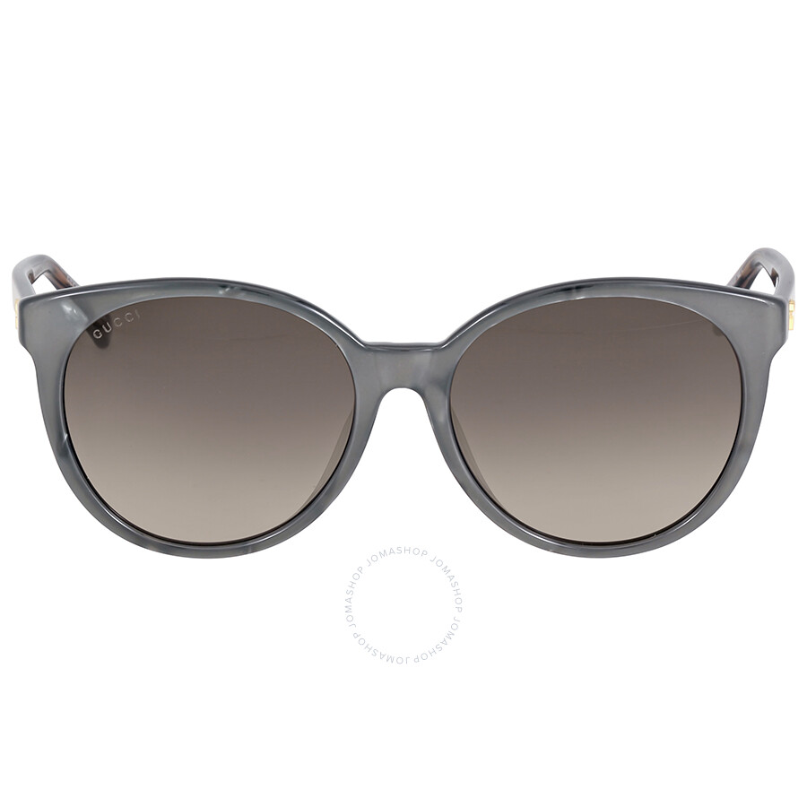 gucci gucci asian fit gray gradient cat eye sunglasses