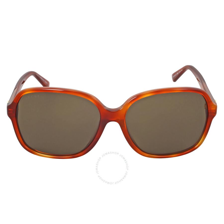 gucci gucci asian fit oversize havana sunglasses gg3834fs056ej