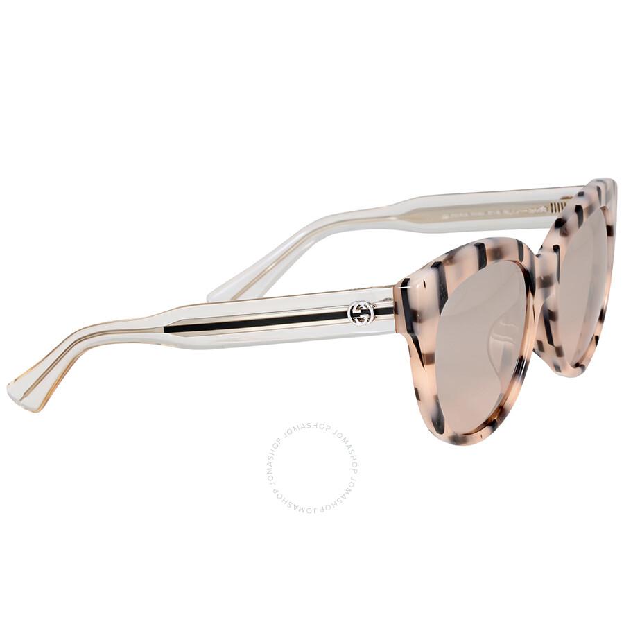 Cat Eye Striped Arm Sunglasses Gucci ag2qKvB