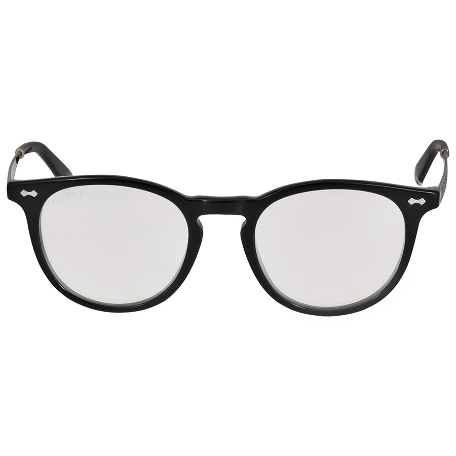 gucci gucci black and silver eyeglasses