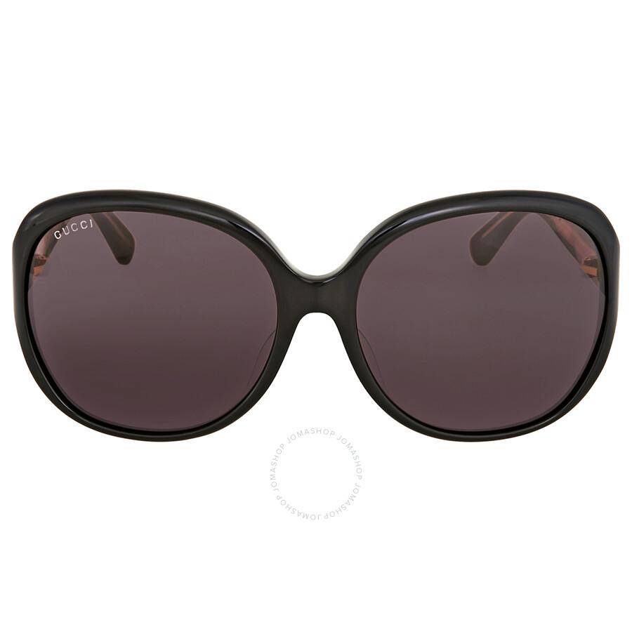 Gucci Black Round Sunglasses GG0080SK