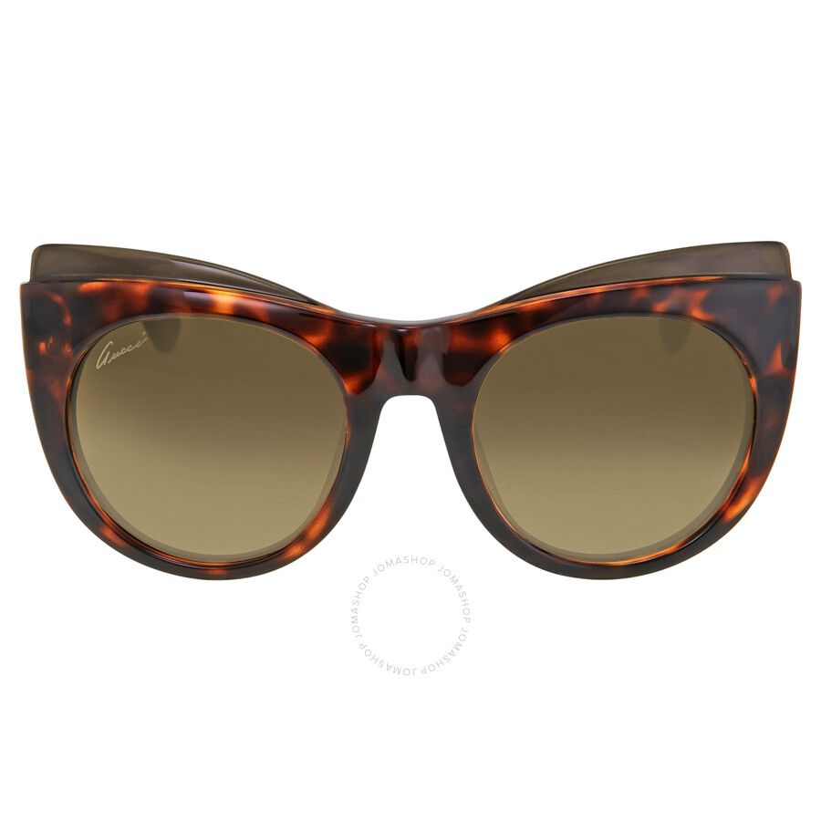 gucci female gucci cat eye havana ladies sunglasses gg3781slsdha