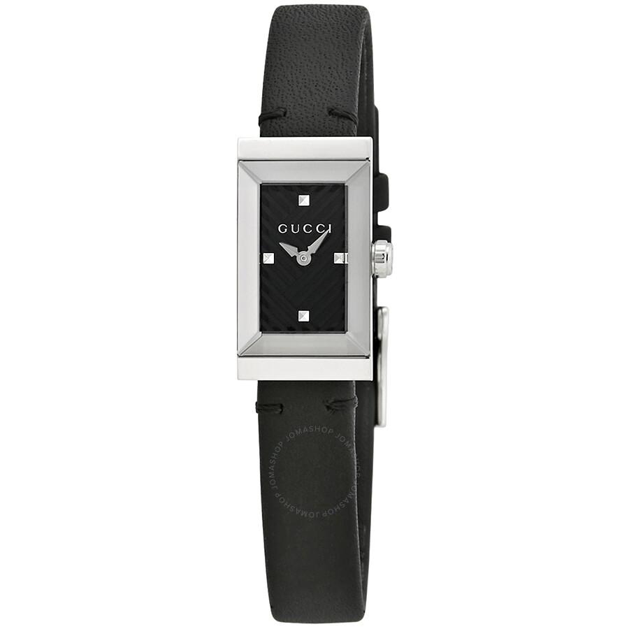 Gucci G-Frame Black Dial Ladies Watch YA147504 - G-Frame - Gucci ...