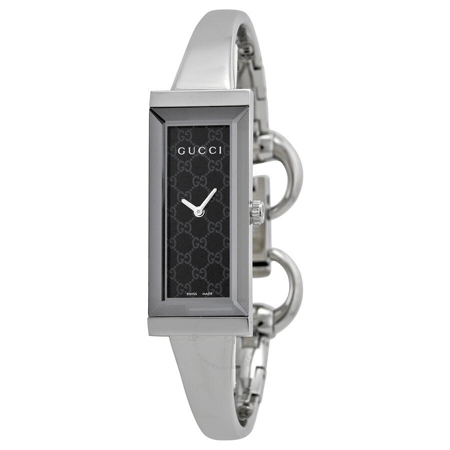 Gucci G Frame Black Dial Stainless Steel Ladies Watch YA127512 - G ...