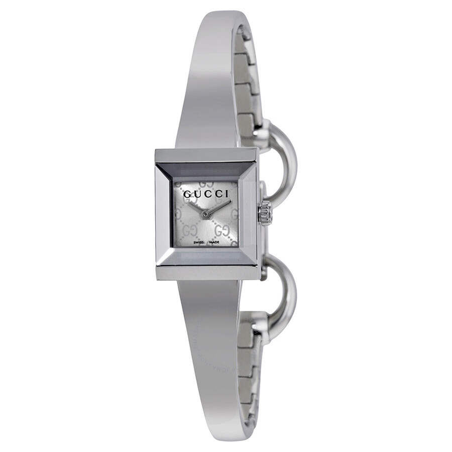 Gucci G Frame Square Silver Dial Ladies Watch YA128511