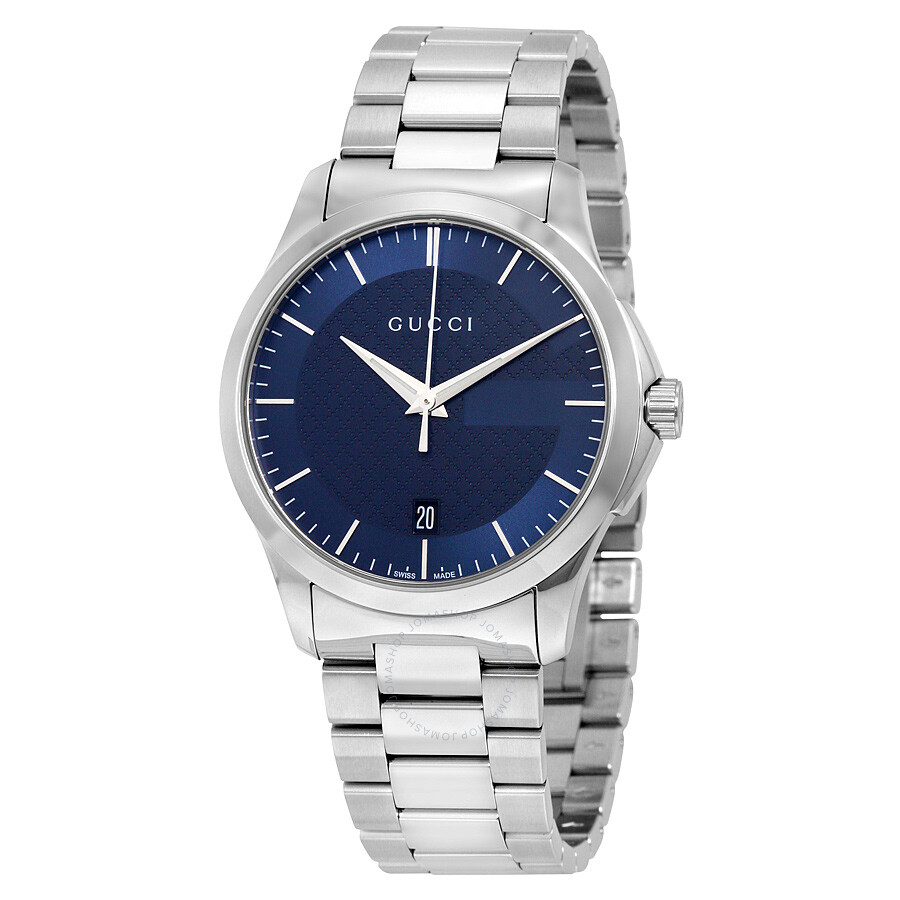 gucci 261361 gucci gtimeless blue dial stainless steel unisex watch ya126440