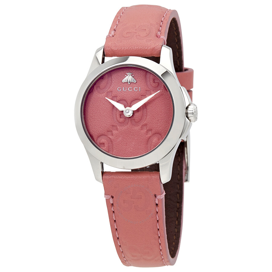 Gucci G-Timeless Pink Dial Ladies Watch YA126578 - G-Timeless ...
