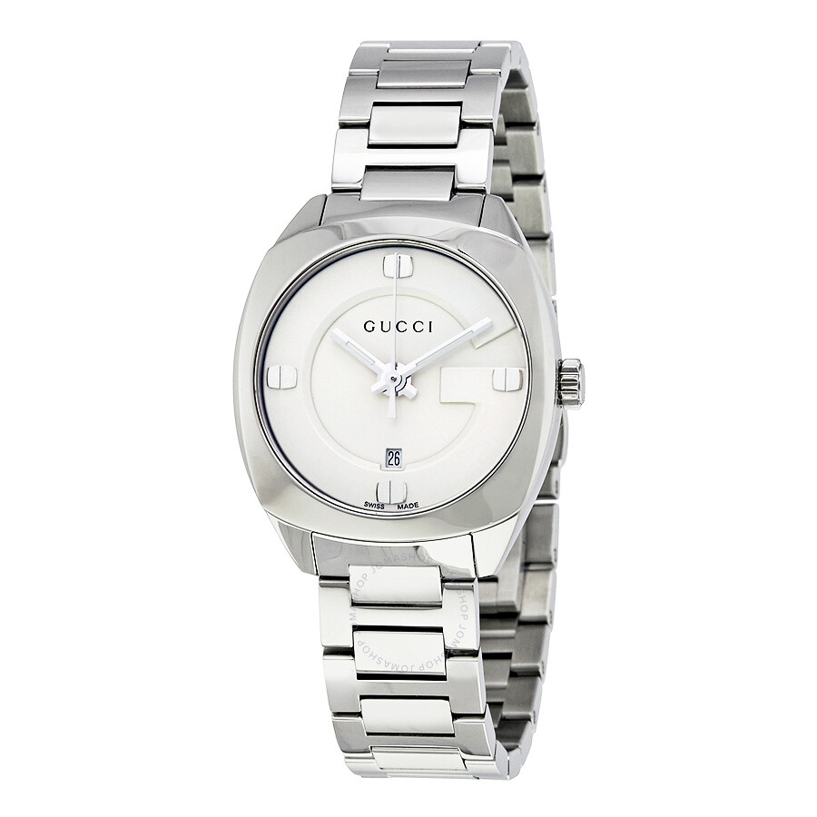 978792fdec2 gucci female gucci gg2570 white dial stainless steel ladies watch ya142502