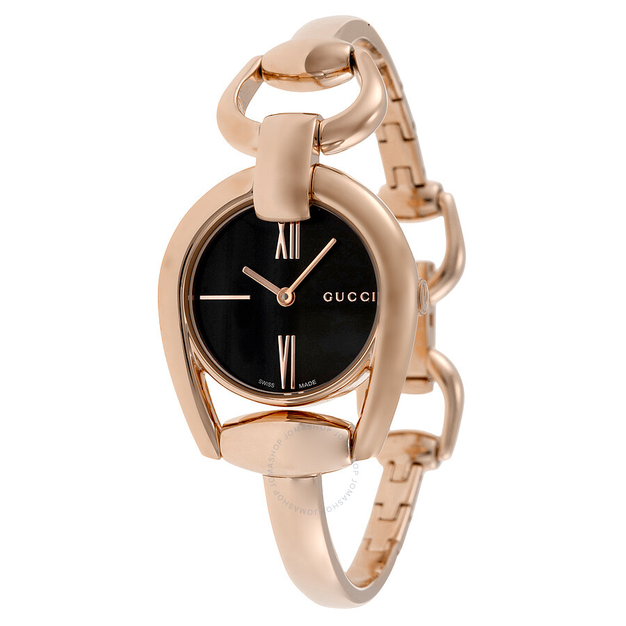 black watches rose ladies misaki gucci gold pvd watch dial horsebit