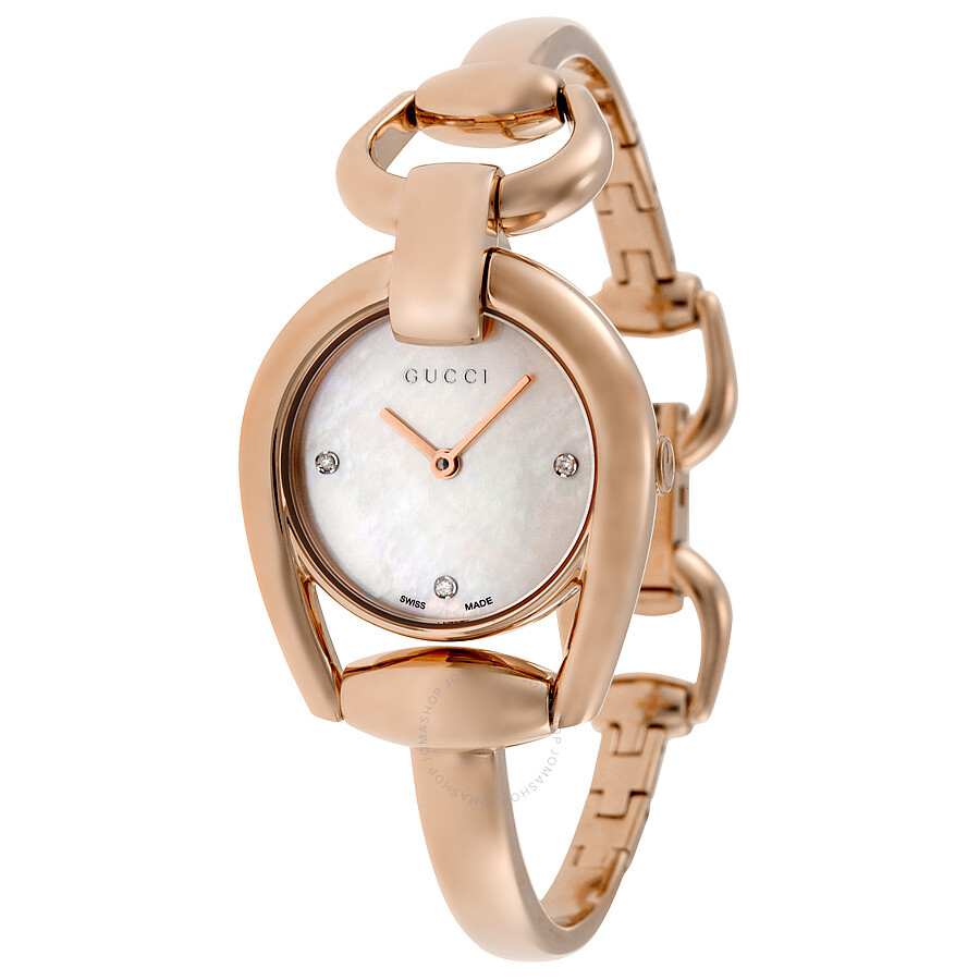 Gucci Horsebit Mother of Pearl Dial Ladies Watch YA139508