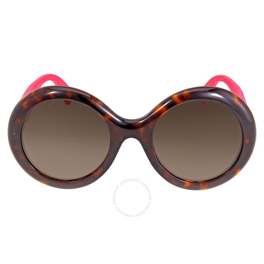 Gucci Round Glitter Pink Sunglasses - Gucci - Sunglasses ...