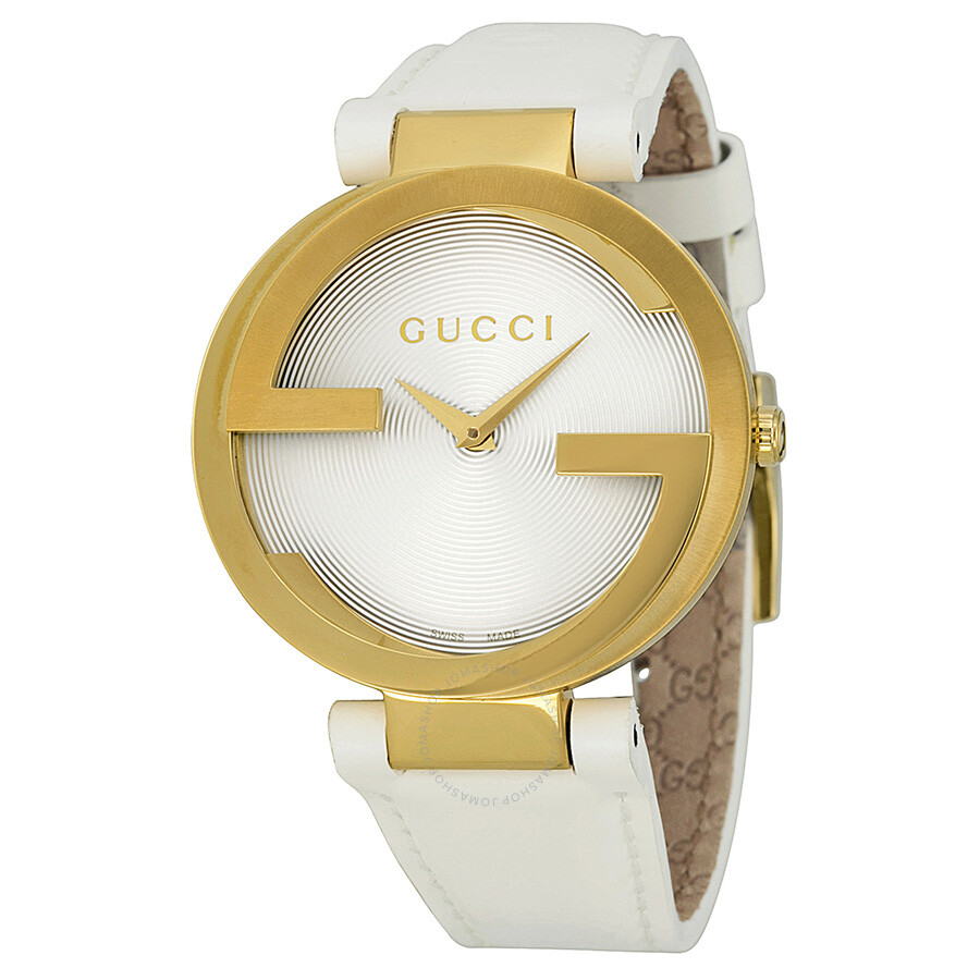Gucci Special Latin GRAMMY Gold-tone White Rubber Large Watch YA133313