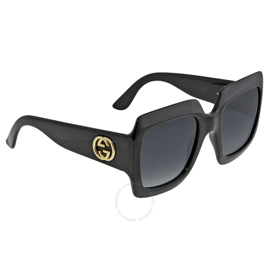 Gucci Square Shiny Black Frame Ladies Sunglasses GG3826/SD289O ...
