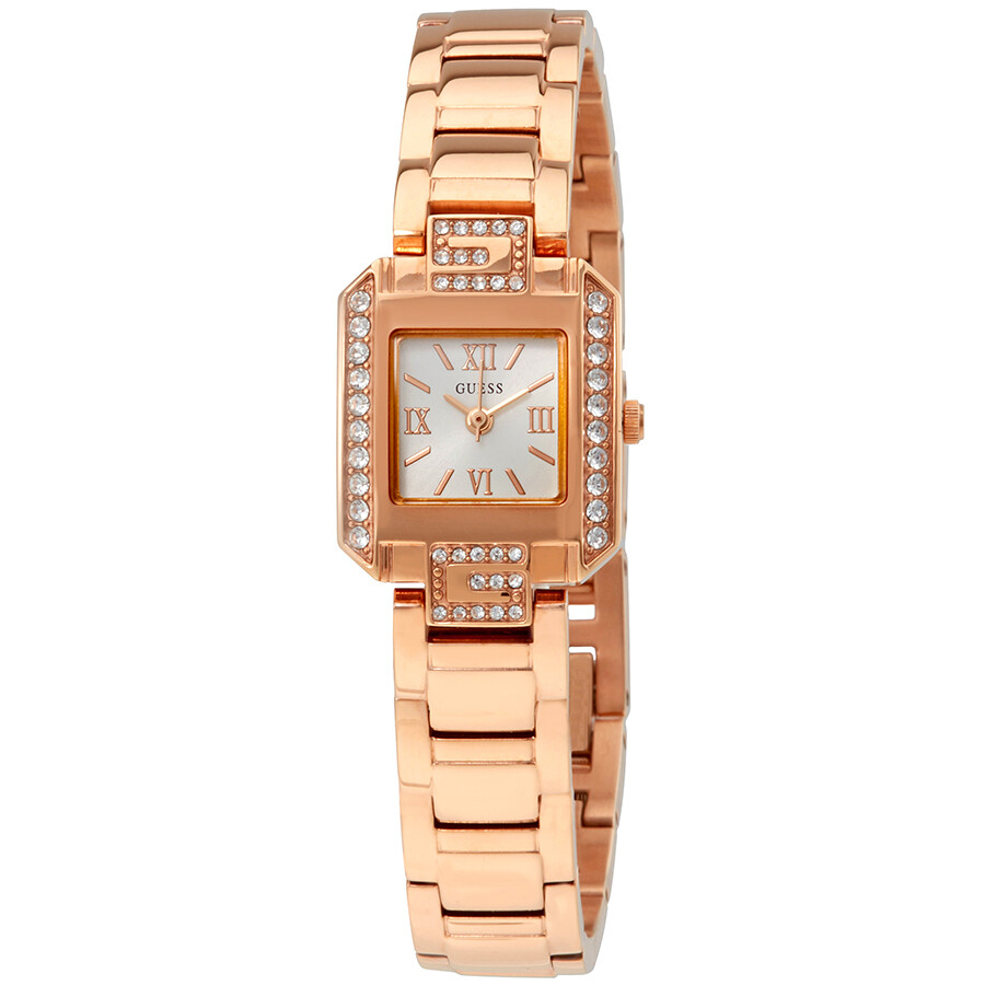 Guess Darling White Dial Ladies Rose Gold-tone Watch W0306L3