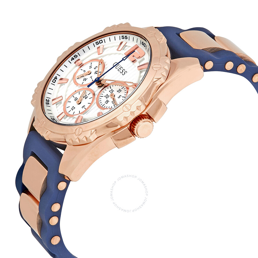 Guess W0325l8 Intrepid2 Jam Tangan Wanita Rose Gold Stainless Steel W0149l5 Overdrive Navy Blue Rubber Intrepid