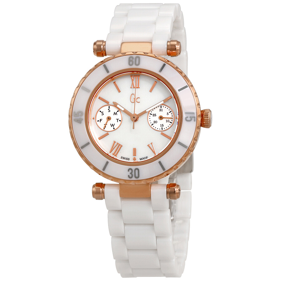 Guess Mother Of Pearl Dial Ladies Watch I42004L1S