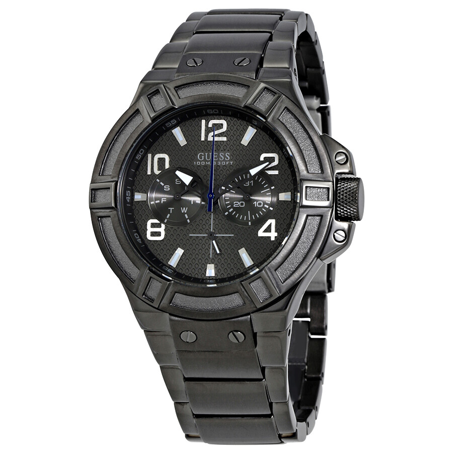 Guess rigor multi function grey dial men 39 s watch w0218g1 guess watches jomashop for Watches guess