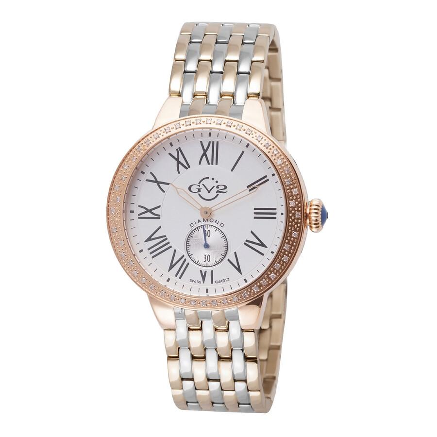 GV2 by Gevril Astor White Dial Diamond Ladies Watch 9106
