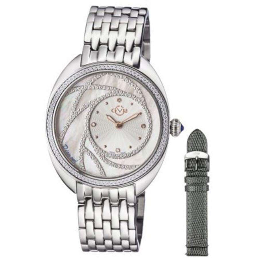 GV2 by Gevril Ancona White Diamond Ladies Watch 3700