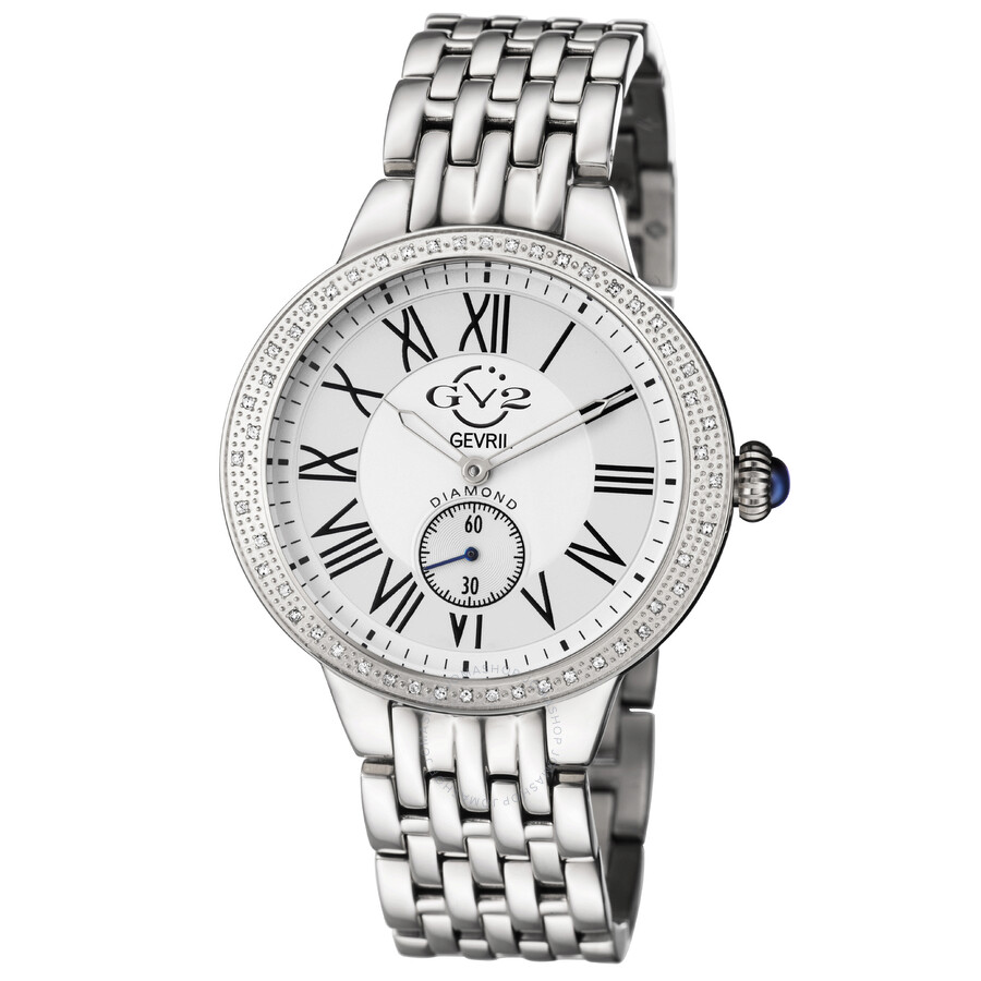 GV2 by Gevril Astor Diamond Bezel Quartz Ladies Watch 9100