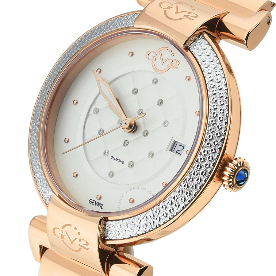 GV2 by Gevril Berletta Diamond Ladies Watch 1502