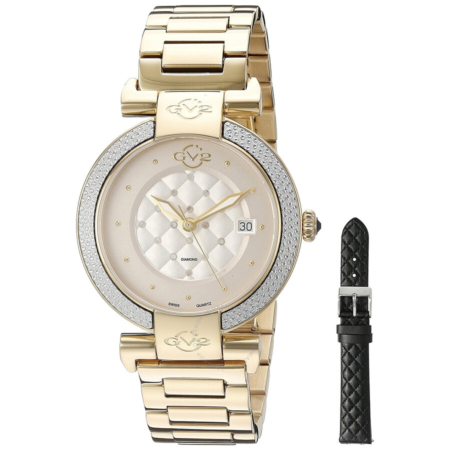 GV2 by Gevril Berletta White Diamond Ladies Watch 1501
