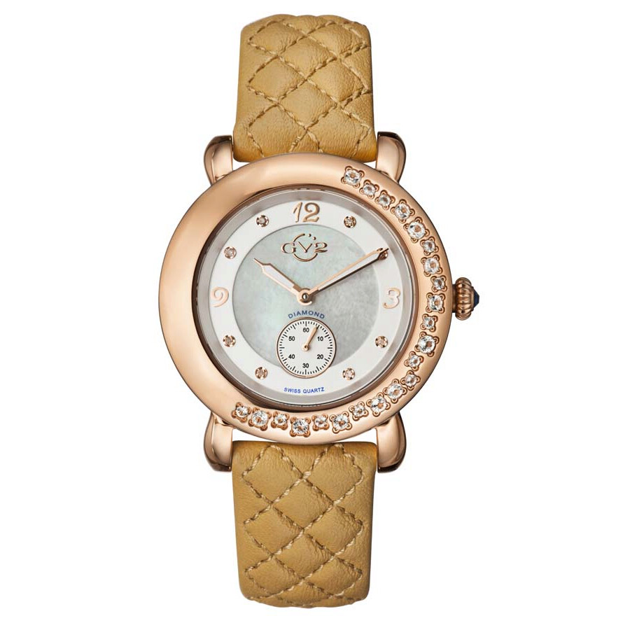 Gv2 by gevril marsala silver dial ladies watch 9893l gv2 by gevril watches jomashop for Gevril watches