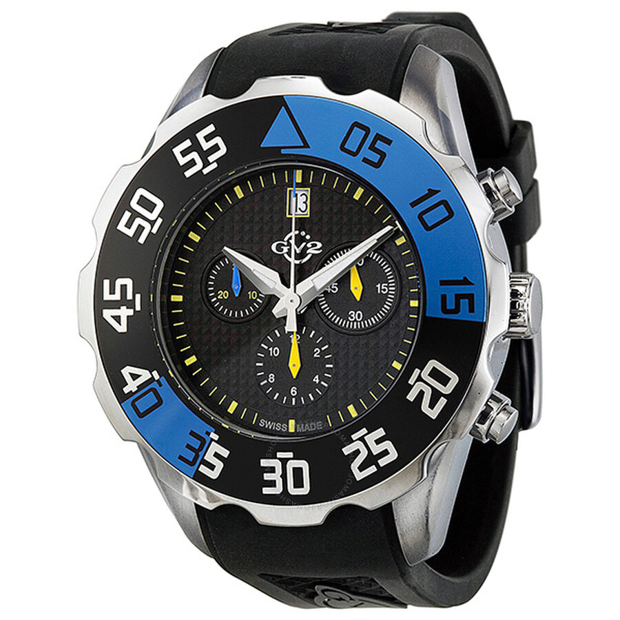 Gv2 by gevril parachute chronograph rubber date men 39 s watch 3001r gv2 by gevril watches for Gevril watches