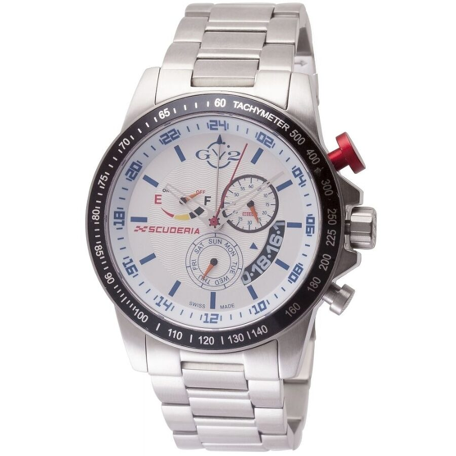 Gv2 by gevril scuderia white dial men 39 s watch 9908 gv2 by gevril watches jomashop for Gevril watches
