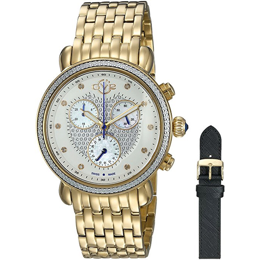 GV2 Marsala Chronograph Ladies Watch 9882