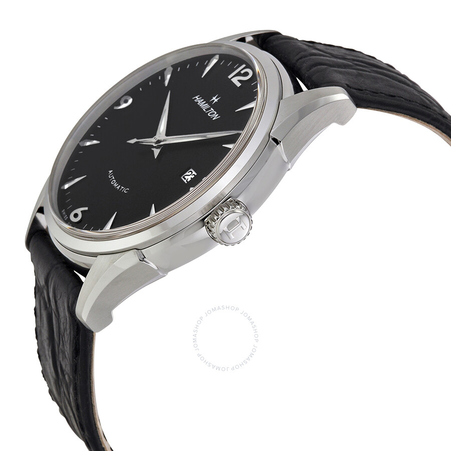 hamilton thinomatic black dial black leather strap men 39 s watch h38715731 american classic