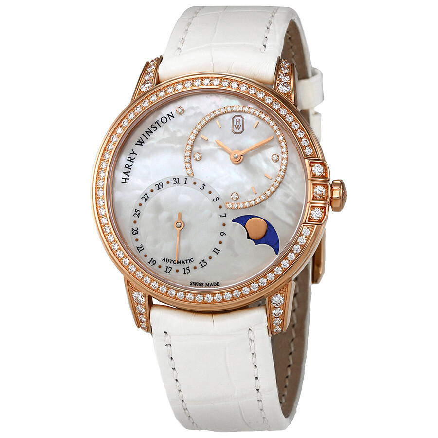 Harry Winston Midnight White Mother Of Pearl Dial Automatic Ladies Watch MID..