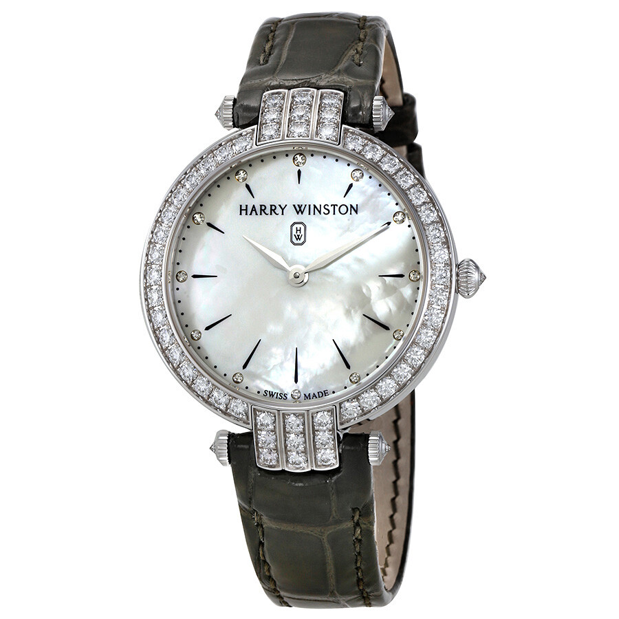 Harry Winston Premier 36mm 18kt White Gold Diamond Ladies Watch PRNQHM36WW016
