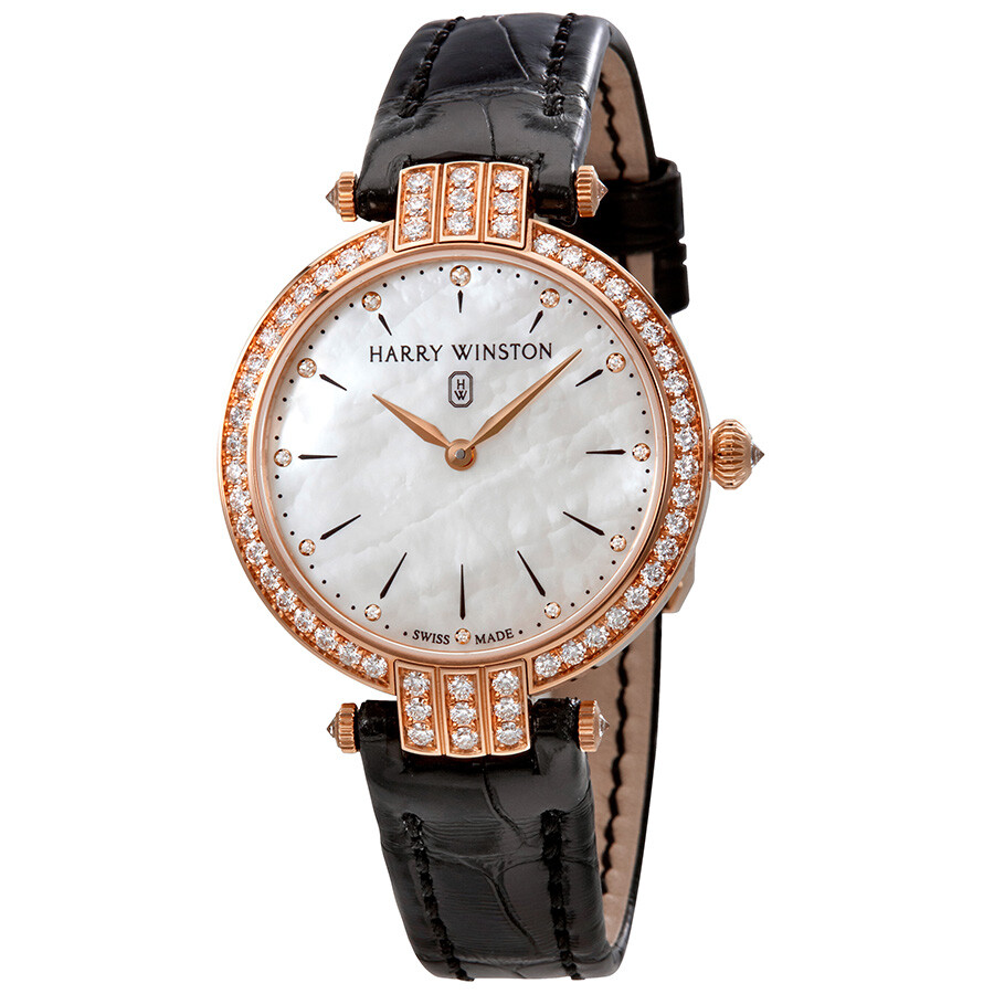 Harry Winston Premier White Mother Of Pearl Dial Ladies Watch PRNQHM31RR001