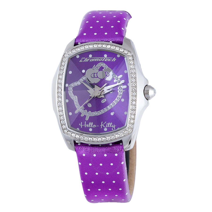 Hello Kitty by Chronotech Purple Dial Ladies Watch CT.7105LS/43