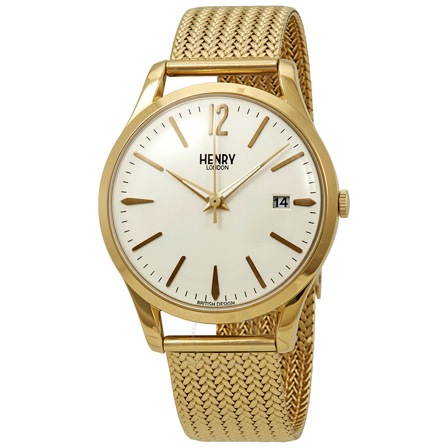 Henry London Yellow Gold-tone Westminster Watch HL39-M-0008