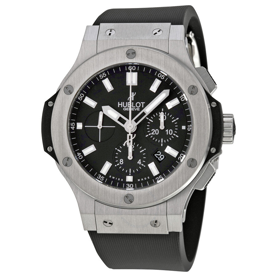 Hublot big bang chronograph black dial men 39 s watch 301 big bang hublot watches for Hublot watches