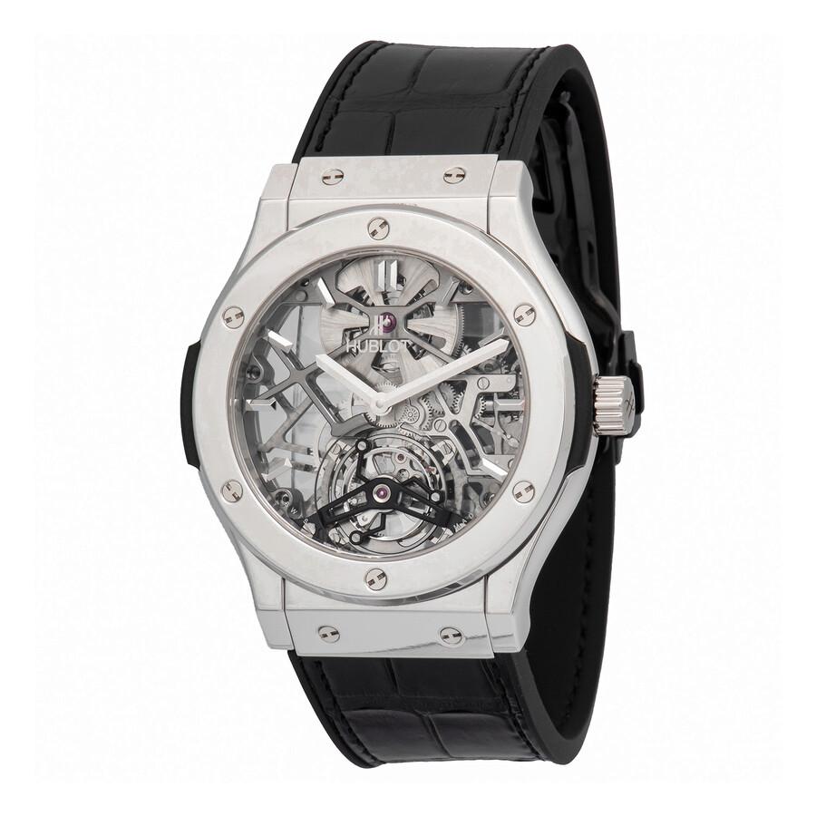 Hublot Ultra-Thin Skeleton Tourbillon Dial Skeleton Automatic Mens Luxury Watch 505.TX.0170.LR