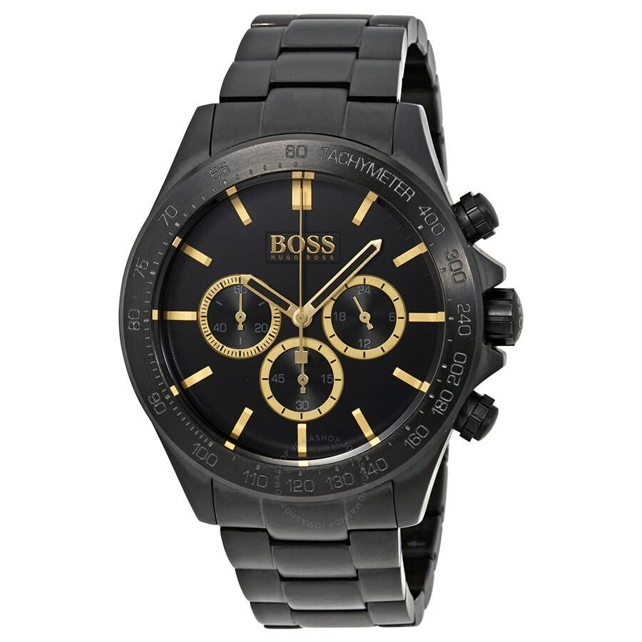 Hugo Boss Ikon Chronograph Black Enamel Dial Mens Watch 1513278