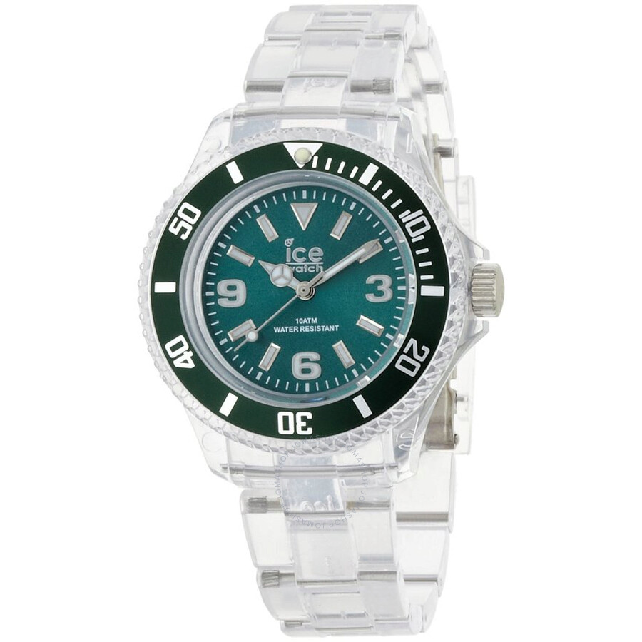 Ice Pure Forest Green Dial Plastic Ladies Watch PU. FT.S.P.12