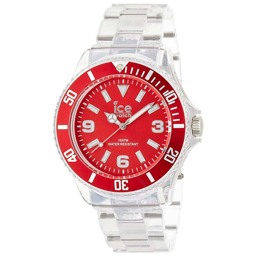 Ice Pure Red Dial Plastic Mens Watch PU. RD.B.P.12