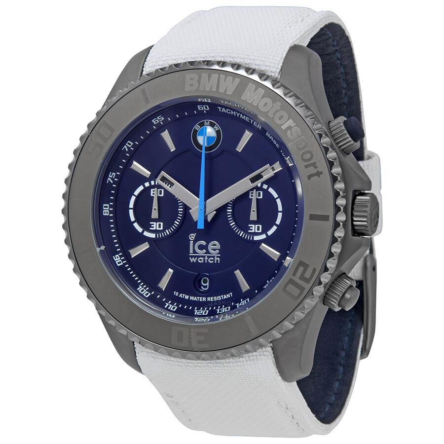 ice watch bmw motorsport xl 53 mm chronograph blue dial men 39 s watch bm ch wdb bb ice. Black Bedroom Furniture Sets. Home Design Ideas