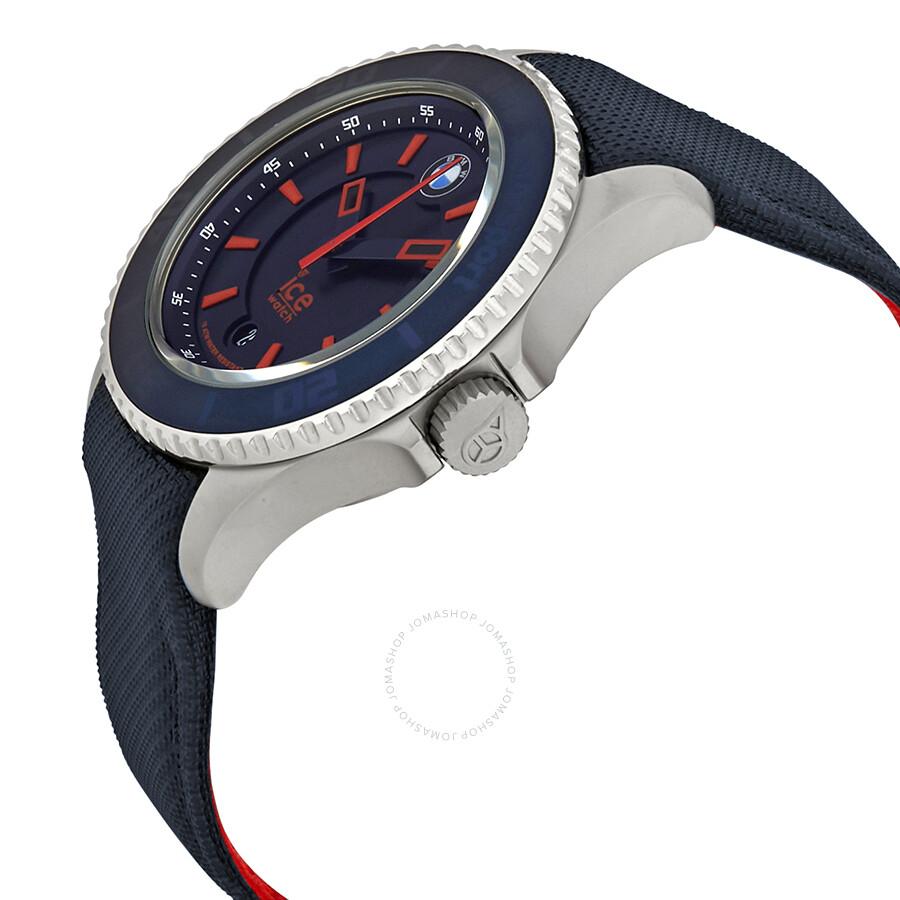 ice watch bmw motorsport navy blue dial men 39 s 43 mm watch bm brd u ice watch watches. Black Bedroom Furniture Sets. Home Design Ideas