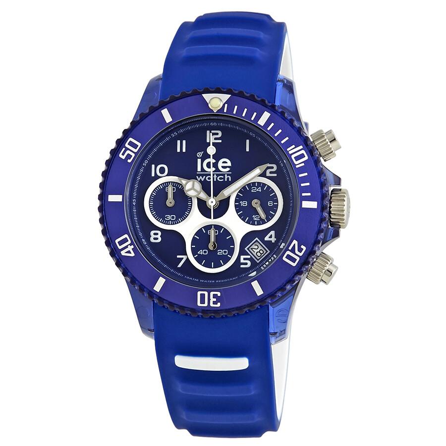 Ice watch ice aqua chronograph blue dial men 39 s watch 001459 ice watch watches jomashop for Aqua marine watches